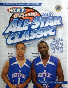 Mr. Basketball Dominique Hawkins and Miss Basketball Makayla Epps were on the 2013 cover.