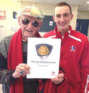 Jock Sutherland and Lafayette senior Harrison Lane at Saturday's Jock Sutherland Classic.