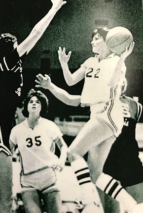 Peggy Gay goes to the rim during her career at EKU.