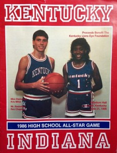 Rex Chapman of Apollo and Kris Miller of Owensboro were on the cover of the 1986 Kentucky-Indiana program.